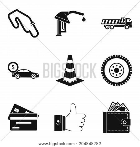 Buying car icons set. Simple set of 9 buying car vector icons for web isolated on white background