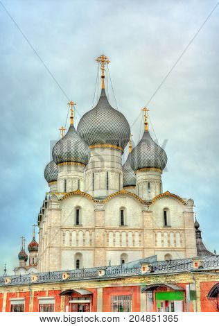 Assumption Cathedral in Rostov Veliky, the Golden Ring of Russia