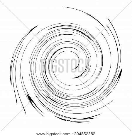 Abstract tunnel of circles. Simple cone-shaped funnel.