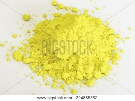 Gold Pigment Isolated Over White