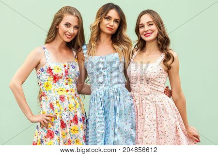 Portrait Of Three Happiness Young Adult Girls