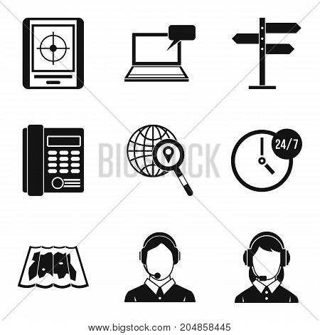 Autocenter icons set. Simple set of 9 autocenter vector icons for web isolated on white background