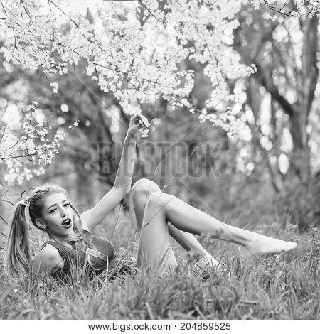 Pretty Girl In Blossom