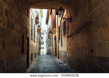Streets of Palma de Majorca. Spain Europe