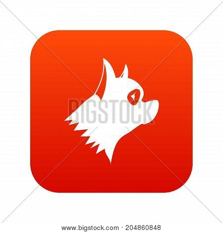 Pinscher dog icon digital red for any design isolated on white vector illustration