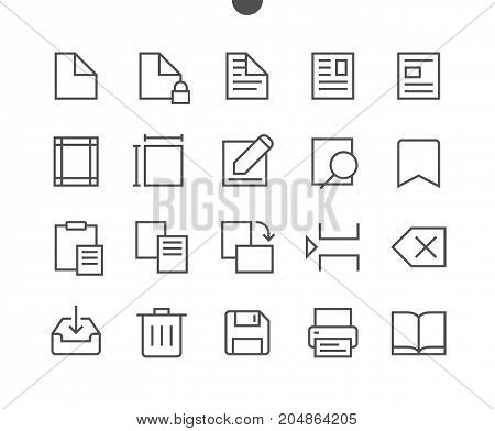 Edit text Pixel Perfect Well-crafted Vector Thin Line Icons 48x48 Ready for 24x24 Grid for Web Graphics and Apps with Editable Stroke. Simple Minimal Pictogram Part 2-4