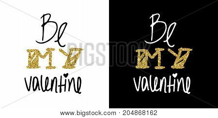 Gold Glitter Valentines Day Greeting Card Quote