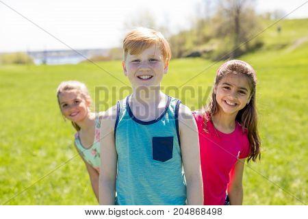 the Casual Children Cheerful Cute Friends Kids Concept