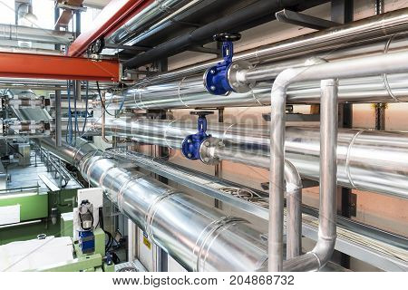 Industrial: Valves and pipes in a industry