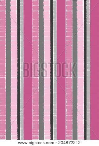 An illustration of stripes in the colors that remind one of a creamy sweet raspberry sauce