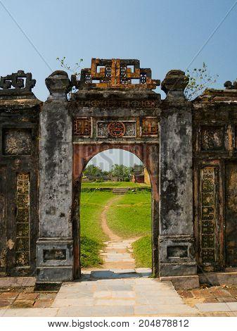 Inside the citadel. Imperial Forbidden City. Hue Vietnam