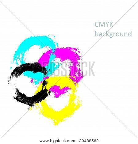 Inkblots cmyk background
