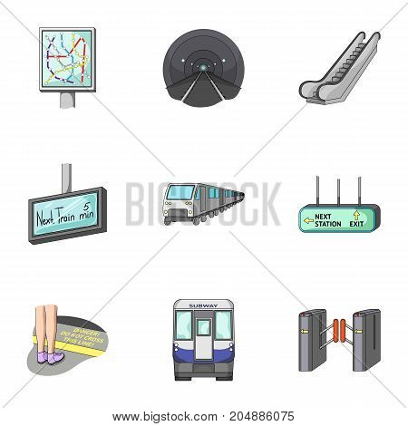 Movement, electric transport and other  icon in cartoon style.Attributes, public, means, icons in set collection.