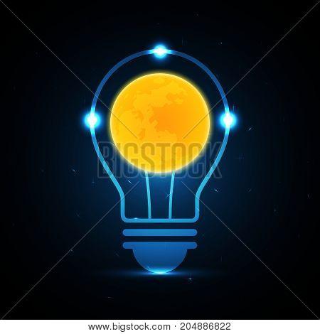 Technology Future Moon Light Bulb