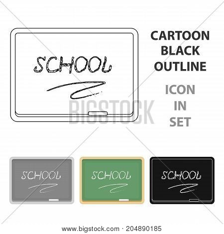 Blackboard with chalk and pointer . Board for classes.School And Education single icon in cartoon style vector symbol stock web illustration.