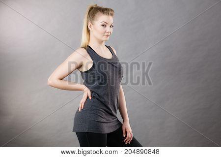 Happy Woman Wearing Black Tank Top