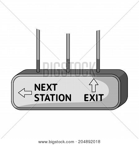Signboard, single icon in monochrome style.Signboard, vector symbol stock illustration .
