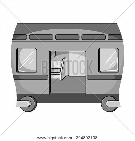 Wagon, single icon in monochrome style.Wagon vector symbol stock illustration .