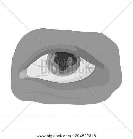 Eye single icon in monochrome style.Eye, vector symbol stock illustration .
