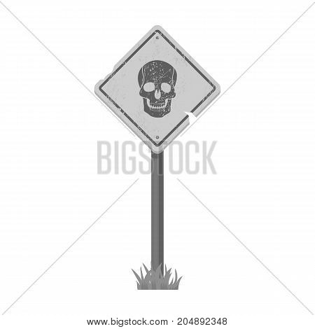 Sign, single icon in monochrome style.Sign, vector symbol stock illustration .