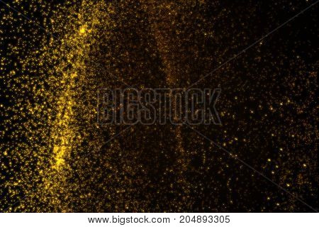 Abstract Background Made Of Orange Glowing Particles