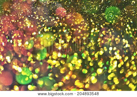 bokeh light effect Colorfull Blur abstract background.