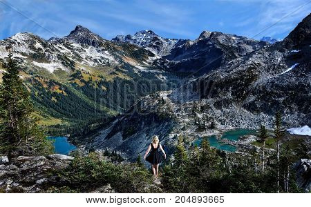 Canadian nature. Hiking near Vancouver. Whistler. British Columbia. Canada.