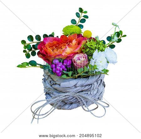 bouquet of flowers. bouquet of flowers roses gerbera flowers carnations