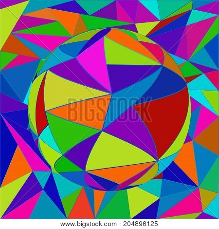 Vector abstract sphere effect background. Optical illusion.