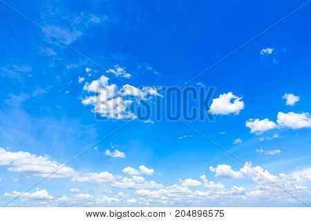Blue sky with clouds, Fantastic soft white clouds against blue sky