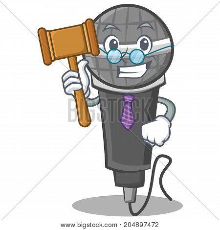 Judge microphone cartoon character design vector illustration