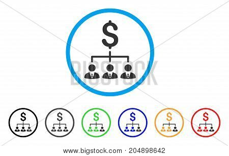 Banker Links rounded icon. Style is a flat banker links grey symbol inside light blue circle with black, gray, green, blue, red, orange color versions. Vector designed for web and software interfaces.