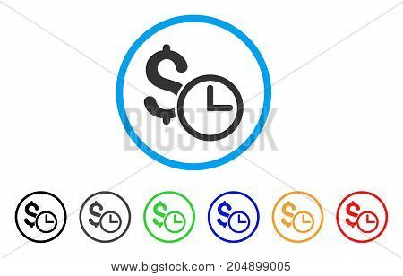 Credit rounded icon. Style is a flat credit gray symbol inside light blue circle with black, gray, green, blue, red, orange color versions. Vector designed for web and software interfaces.