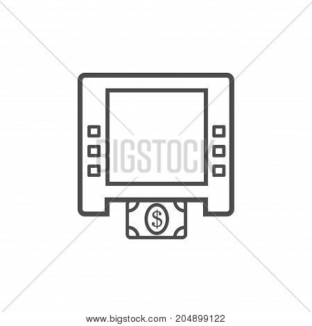Atm vector symbol isolated on white background