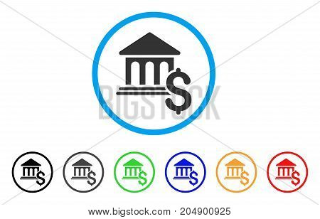 Pay Museum rounded icon. Style is a flat pay museum grey symbol inside light blue circle with black, gray, green, blue, red, orange color versions. Vector designed for web and software interfaces.
