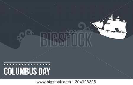 Columbus day celebration design collection vector illustration