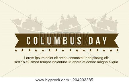 Columbus day celebration background style vector illustration