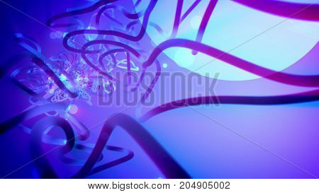 Futuristic Strokes Showing White Sphere And Tubes