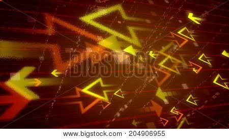 Abstract Arrows On A Colorful Grid