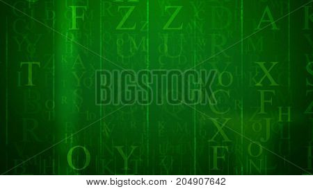 Abstract E-letter With Columns And English Letters