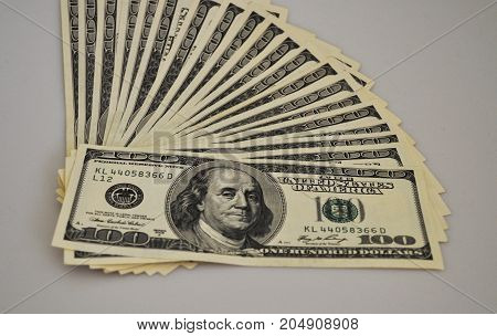 money, banknotes, dollars, one hundred, bank notes, bank, paper, pack, ribbon, signs