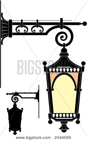 Street Lantern From The Forged Metal
