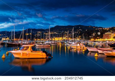 Harbor With Yachts In Lerici, Italy