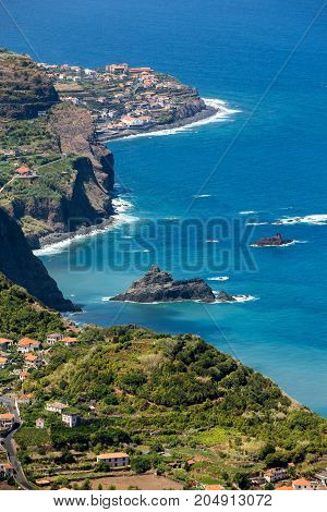 Viewpoint over the north coast of Madeira Portugal