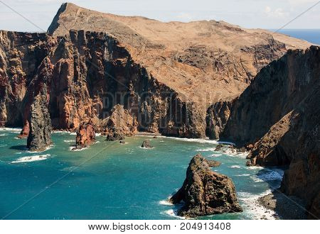 Beautiful landscape at the Ponta de Sao Lourenco the eastern part of Madeira Portugal