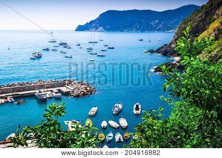 Rocky Coast And The Sea, Cinque Terre