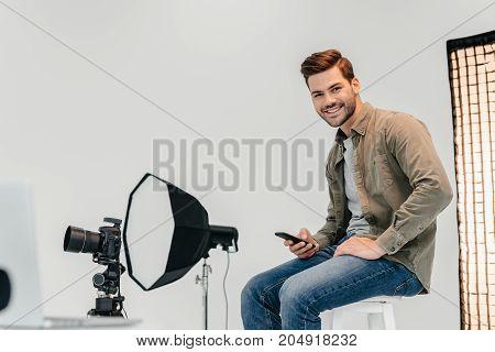 Professional Photographer In Photo Studio