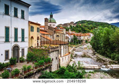View Of Scenic Old Pontremoli Village