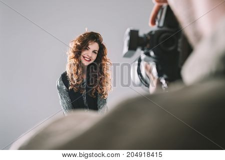 Taking Photos With Beautiful Model