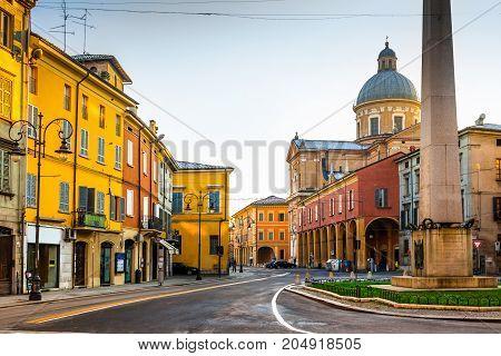 Scenic Old Street In Reggio Emilia